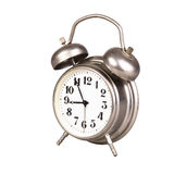 Old alarm clock on a white background Royalty Free Stock Photos