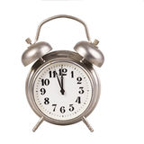 Old alarm clock on a white background Royalty Free Stock Image