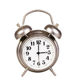Old alarm clock on a white background Royalty Free Stock Photography