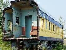 Old Alaska Railroad passenger car stock photo