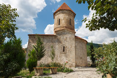 Old Albanian church in Kish Azerbaijan stock photos