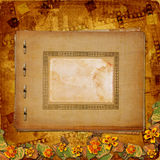 Old  album on the ancient background. Old grunge album on the ancient background Stock Images