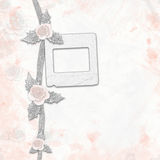 Old album with painted roses and frames Royalty Free Stock Photos