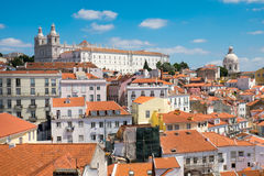 The old Alfama quarter in Lisbon Stock Images