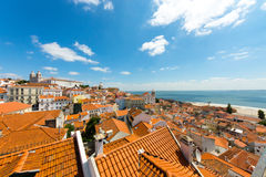 The old Alfama quarter in Lisbon Royalty Free Stock Photography