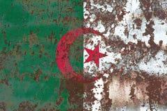 Old Algeria grunge background flag.  Royalty Free Stock Photography
