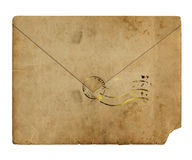 Old alienated envelope Royalty Free Stock Photos