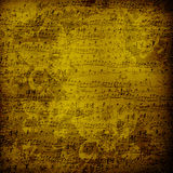 Old alienated musical paper in for design Royalty Free Stock Images