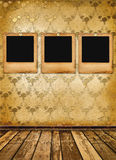 Old alienated slides on the wall Royalty Free Stock Photography