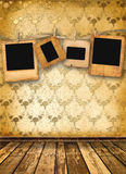 Old alienated slides on the wall Royalty Free Stock Photos