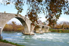 Old alike stone bridge Greece Stock Image