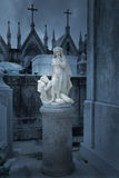 Old allegory statue to night and silence Stock Photo