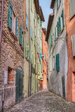 Old alley in Brisighella, Emilia Romagna, Italy Royalty Free Stock Photos