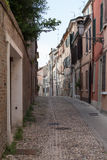 Old alley in the city centre of Ferrara Royalty Free Stock Photos