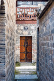 Old alley and door Stock Photo