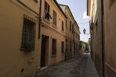Old alley in Ferrara Italy Stock Photography