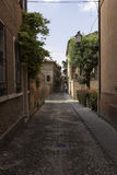 Old alley in Ferrara Italy Royalty Free Stock Photos
