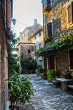 Old alley in Groznjan, Croatia Stock Photo