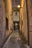 Old alley in Guardiagrele, Abruzzo, Italy Stock Photography