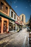 Old Alley at Ladadika, in thessaloniki City, Greece Royalty Free Stock Photo