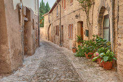 Old alley in Montefalco, Umbria, Italy Royalty Free Stock Photos