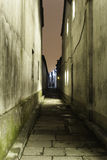 Old alley. Night view of Old alley Stock Image