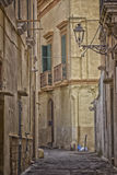 Old alley  in the old town of Gallipoli (Le) Royalty Free Stock Photo