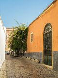 In the old alleyways of Faro on the coast of southern Portugal Royalty Free Stock Photos