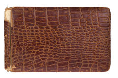 Old Alligator Leather Book 1885 Royalty Free Stock Photography
