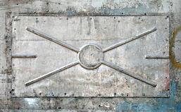 Old alloy panel texture Royalty Free Stock Images