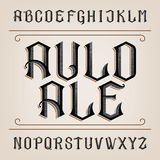 Old alphabet vector font. Distressed hand drawn letters. Stock Photography