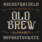 Old alphabet vector font. Royalty Free Stock Photos