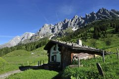 Old Alpine Cottage Stock Image