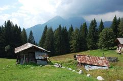 An old alpine farm. Stock Photography