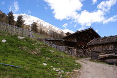 An old alpine hut Stock Photos