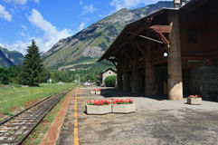 Old Alpine rail station Stock Images