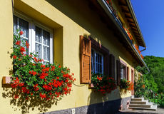 Old alsacien house in small village Stock Photography