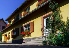 Old alsacien house in small village Stock Photo
