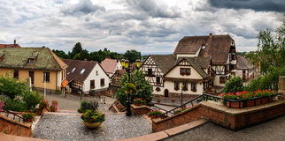 Old alsacien village street view Royalty Free Stock Photography