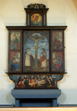 Old altar. Old wooden simple painted altar Royalty Free Stock Images