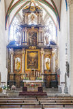 Old altar from 1697 at Erfurt Cathedral Stock Images