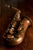 Old Alto Saxophone Royalty Free Stock Photo