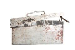 Old aluminium box for  machine-gun tape Royalty Free Stock Image