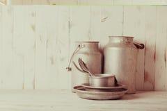 Old aluminium utensils Stock Image