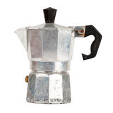 Old aluminum coffee maker Stock Photography