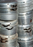 Old  aluminum cookware Stock Images