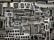 Old aluminum heatsinks abstract background Stock Image