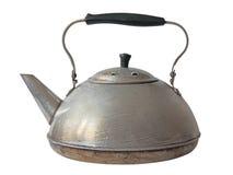 Old aluminum kettle.Isolated. Royalty Free Stock Image