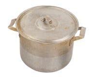 Old aluminum pan royalty free stock photography