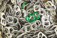 Old aluminum ring pulls Stock Image